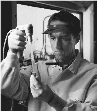 A chemist measures concentrations in a urine sample.