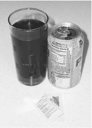Artificial sweeteners, such as those in diet sodas, contain no calories and are used by dieters and diabetics.