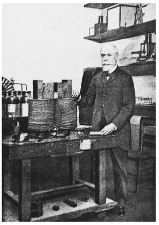 "French physicist Antoine-Henri Becquerel, co-recipient of the 1903 Nobel Prize in physics, ""in recognition of the extraordinary services he has rendered by his discovery of spontaneous radioactivity."""
