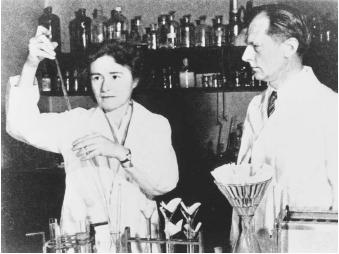 "American biochemists Gerty Therese Radnitz Cori and Carl Ferdinand Cori, corecipients of the 1947 Nobel Prize in physiology or medicine, ""for their discovery of the course of the catalytic conversion of glycogen."""