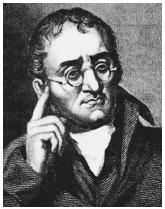 British chemist and physicist John Dalton, who drew up the first list of atomic weights.