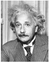 "American physicist Albert Einstein, recipient of the 1921 Nobel Prize in physics, ""for his services to Theoretical Physics, and especially for his discovery of the law of the photoelectric effect."""