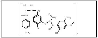 Figure 2. A portion of one of the many possible structures of lignin.