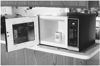 Gadolinium yttrium garnets are used in microwave devices, such as this oven.