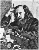 Russian chemist Dimitri Mendeleev, who devised the atomic mass-based Periodic Table.