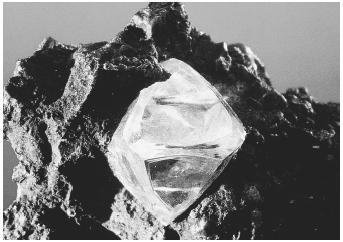 The natural matrix of the Kimberlite diamond.