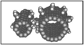 Figure 2. Molecular diagram of a carbon nanotube.