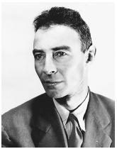 American physicist Robert Oppenheimer, scientific director of the Manhattan Project in which the atomic bomb was developed.