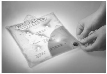 Water and sodium acetate mixing causes a hot pack to release heat. Hot packs are used to relieve stiffness and pain.