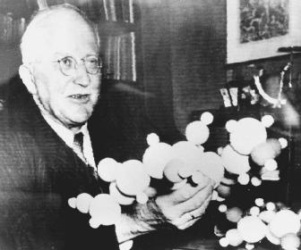 "German chemist Hermann Staudinger, recipient of the 1953 Nobel Prize in chemistry, ""for his discoveries in the field of macromolecular chemistry."""