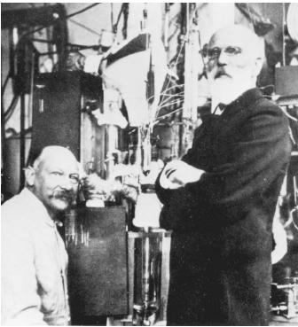 "Dutch physicist Johannes Diderik van der Waals (right), recipient of the 1910 Nobel Prize in physics, ""for his work on the equation of state for gases and liquids."""