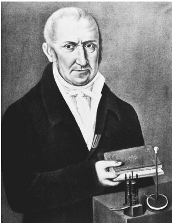 Italian physicist Alessandro Volta, who discovered current electricity.