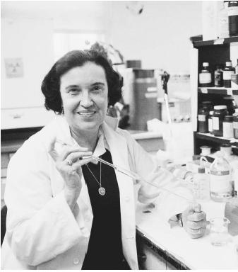 "American physicist and medical researcher Rosalyn Yalow, corecipient of the 1977 Nobel Prize in physiology or medicine, ""for the development of radioimmunoassays of peptide hormones."""