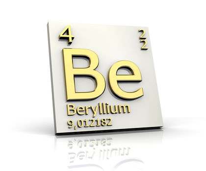 Beryllium Chemical Element Reaction Water Uses Elements Metal