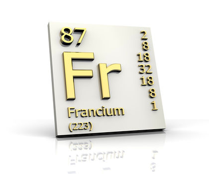 Francium chemical element uses elements metal number name francium urtaz Choice Image